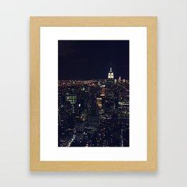 Nightlights Framed Art Print