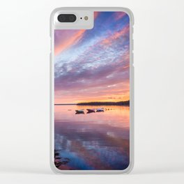 Sunset in French Village, Nova Scotia Clear iPhone Case