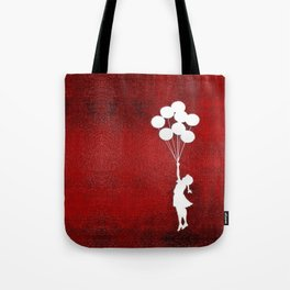 Banksy the balloons Girls silhouette Tote Bag