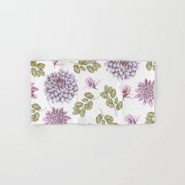 Lavender Rose Garden Floral Pattern Hand & Bath Towel