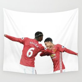 Pogba Lingard - Manchester United - Dab Wall Tapestry