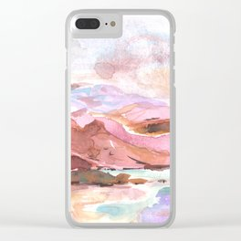 Coastal Dream - Watercolor Painting of the West Coast Clear iPhone Case