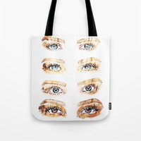 golden girls Tote Bags featuring The Golden Girls by Sara Eshak