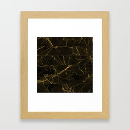 Slices Of Golden Marble Framed Art Print