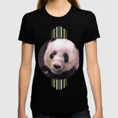 Giant Panda Bear Black Womens Fitted Tee SMALL
