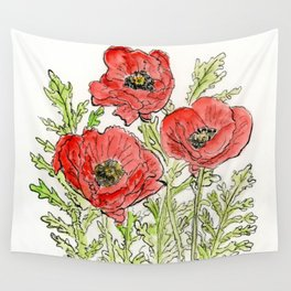 Poppies Wall Tapestry