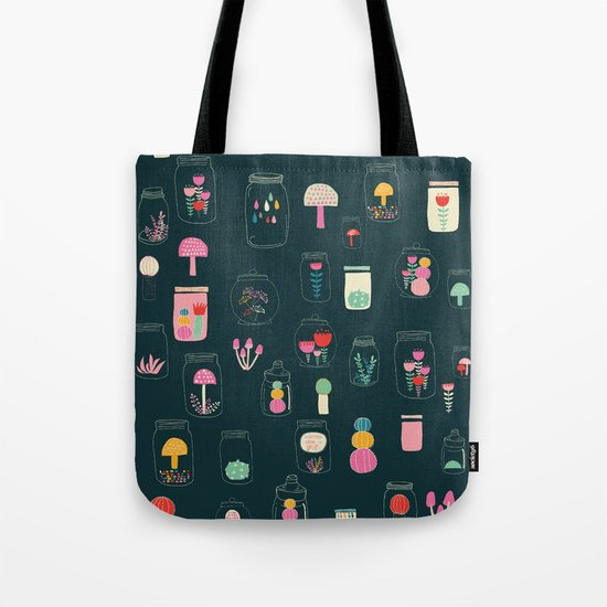 Happy terrarium pattern Tote Bag