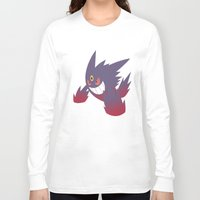gengar Long Sleeve T-shirts featuring Mega Gengar by Rebekhaart