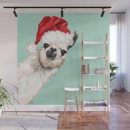 Christmas Sneaky Llama Wall Mural