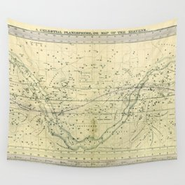 A Celestial Planisphere or Map of The Heavens Wall Tapestry