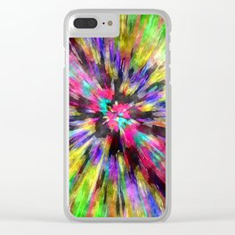 Colorful Starburst Tie Dye Clear iPhone Case