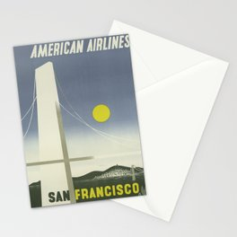 San Francisco Vintage Travel Poster Midcentury Colorful Art Deco Stationery Cards