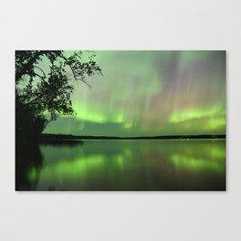 Aurora Borealis Reflection Canvas Print