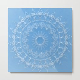 Mandala Winter Kukka Metal Print