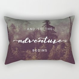 And So The Adventure Begins - Pacific Northwest Rectangular Pillow