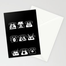 Fifties' Smartphones Black Stationery Cards