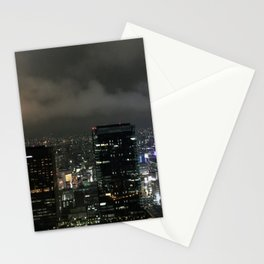 Night View from Twin Towers Osaka Umeda Stationery Cards