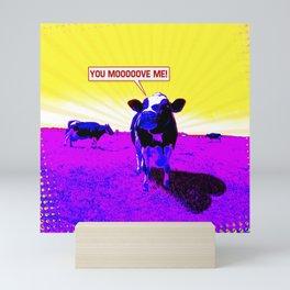 Psychedelic Cows Mini Art Print