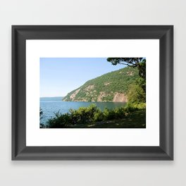 Roger's Rock on Lake George, NY Framed Art Print