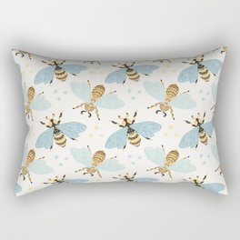 Cute Honey Bee Pattern - Save The Bees Rectangular Pillow