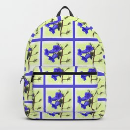 California Bluebell Faux Quilt Backpack