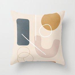 Minimal Abstract Shapes No.57 Throw Pillow