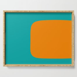 Clarity - Orange and Turquoise Minimalist Serving Tray