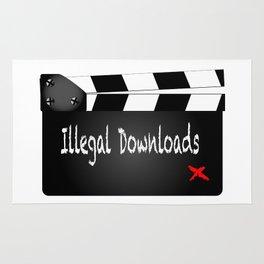 Illegal Downloads Clapperboard Rug