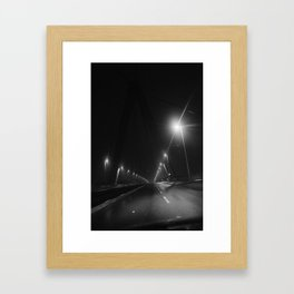 Long night Framed Art Print