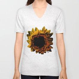 Night Sunflower Unisex V-Neck