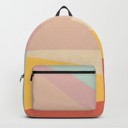 Retro Abstract Geometric Backpack