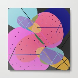 Random Thoughts I - Abstract, minimalist, scandinavian pop art Metal Print