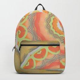 Yellow Decorative Mandala Design Backpack