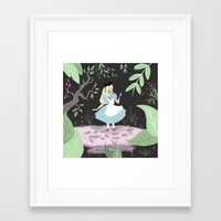 alice wonderland Framed Art Prints featuring Wonderland by gabby ramirez