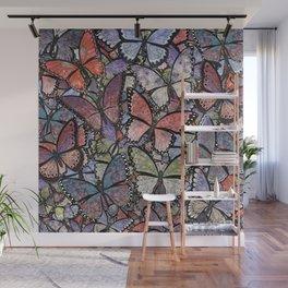 butterflies galore grunge version Wall Mural