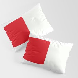 Two nearly perfect Squares - RED/White Pillow Sham