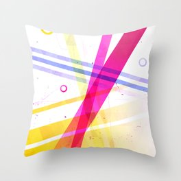 STRIPES AND CIRCLES Throw Pillow