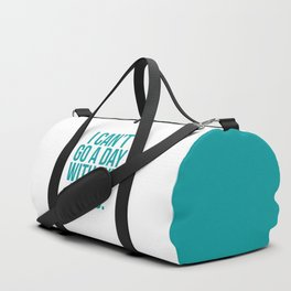 A Day Without Music Quote Duffle Bag