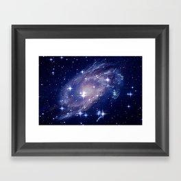 Galaxy deep in space. Framed Art Print