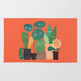 The plants are watching (paranoidos maximucho) Rug