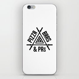 Pizza, Bars and PRs Fitness Triangle v2 iPhone Skin