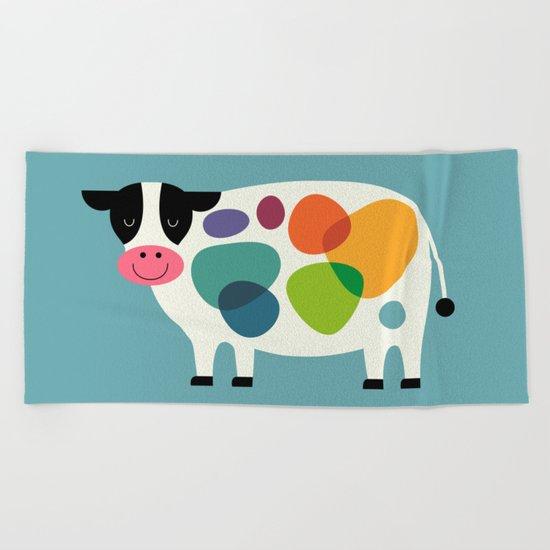 Awesome Cow Beach Towel