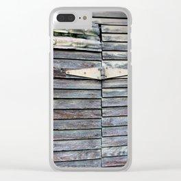 Green Barn Hinge Clear iPhone Case