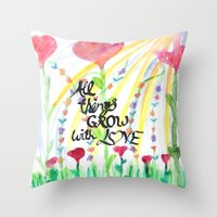 love quotes Throw Pillows featuring Love Quotes by Just Creative Julia