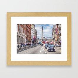 Whitehall, London, Summer day 2016 Framed Art Print