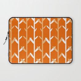 Oat Field Leafy Orange Pattern Laptop Sleeve