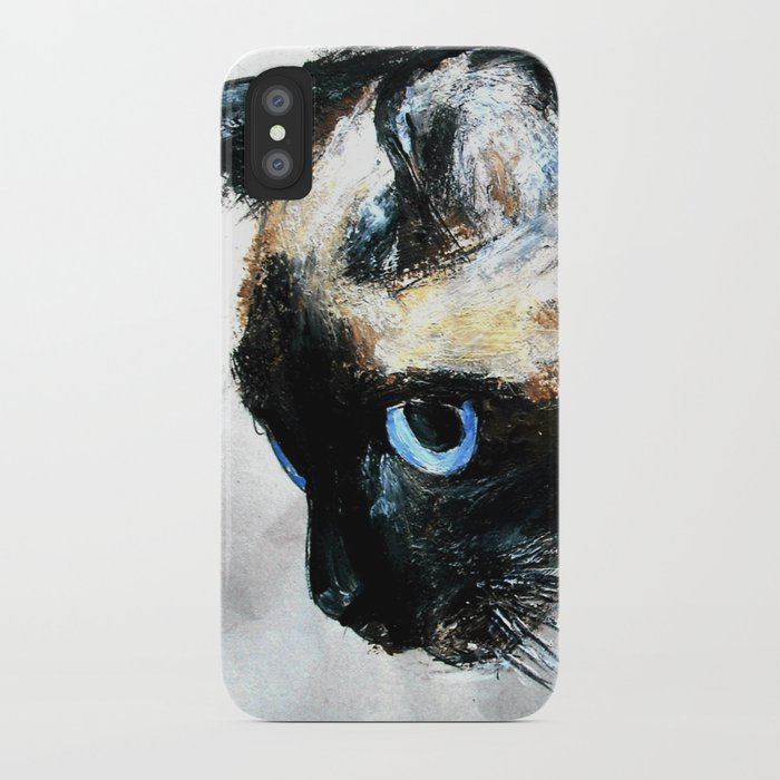 Siamese Cat Unedited iPhone Case