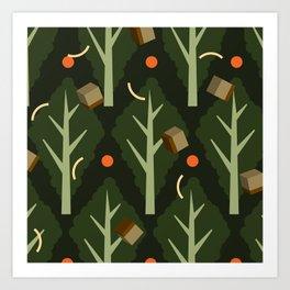 Kale Caesar Salad Art Print