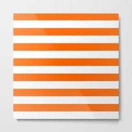 Orange Stripes Metal Print