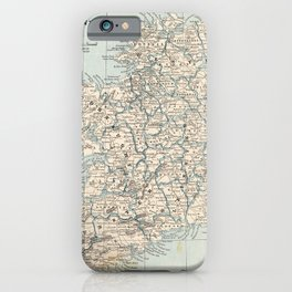 Vintage Map of Ireland (1893) iPhone Case